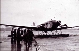Ju-52 on floats in Katajanokka harbor.